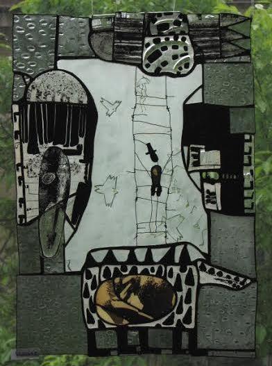 Роксолана Худоба. Тварини зі сну, 2009. Скло, вітраж.