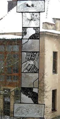 Роксолана Худоба. Ти і я, 2010. Скло, вітраж.