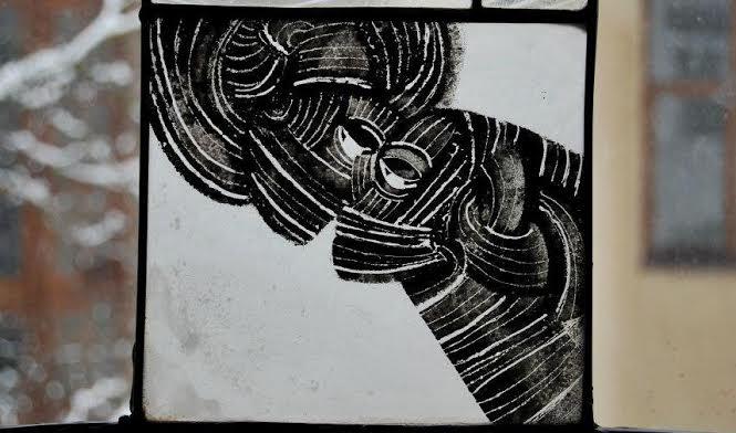 Роксолана Худоба. Ти і я (фрагмент), 2010. Скло, вітраж.