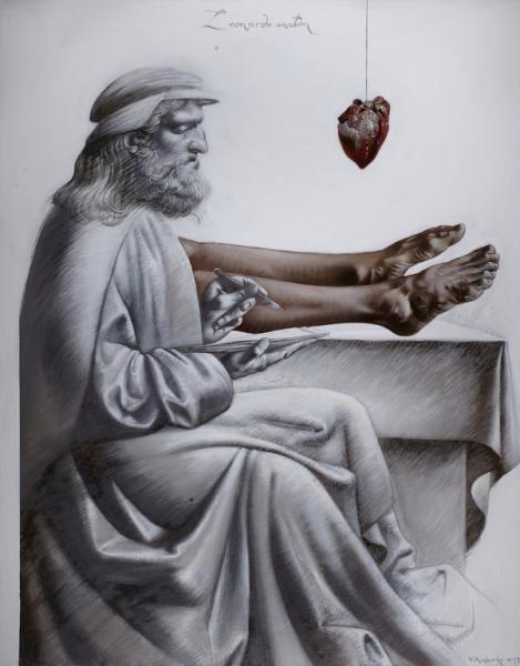 Володимир Костирко. Леонардо Анатом, 2013, полотно, олія