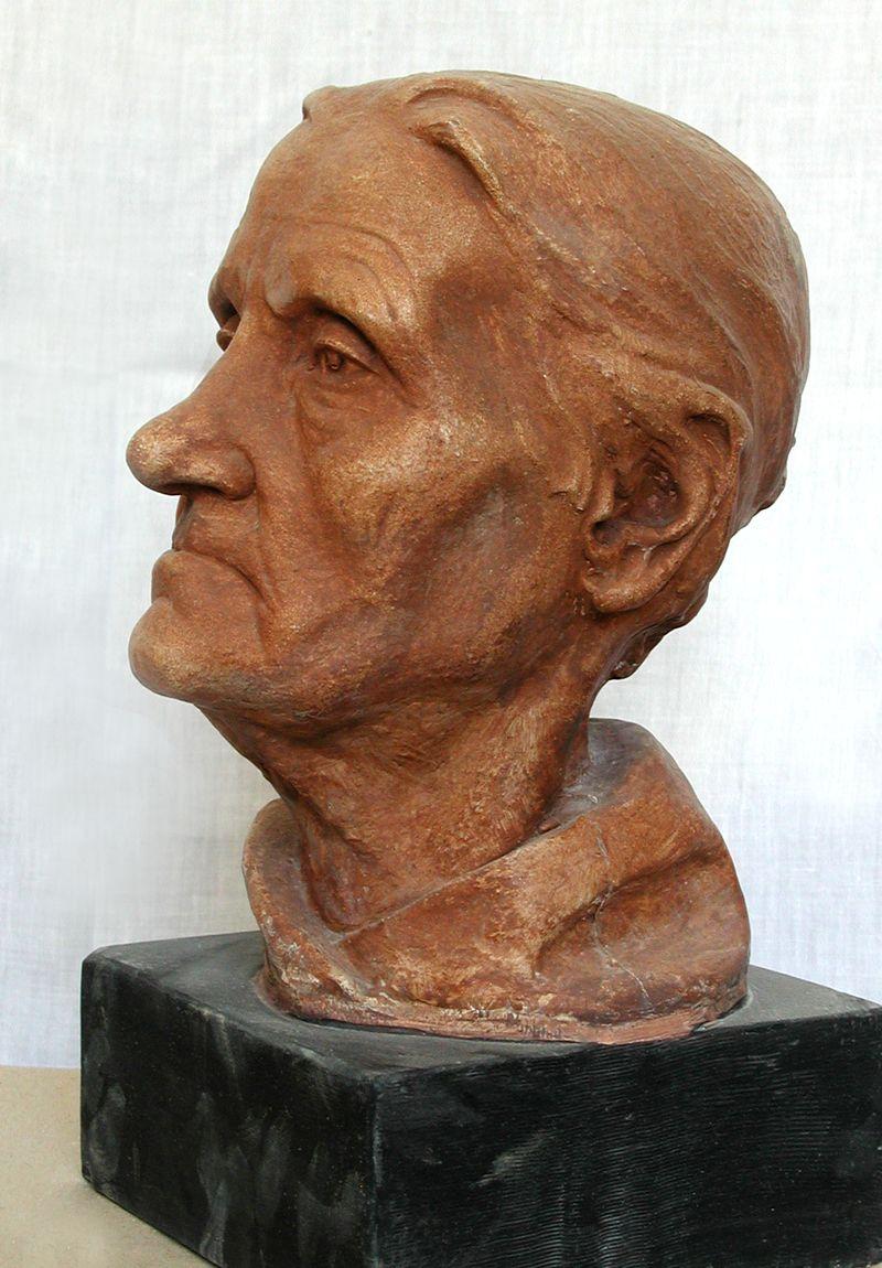 Еммануїл Мисько. Портрет бабусі, 1977. Шамот