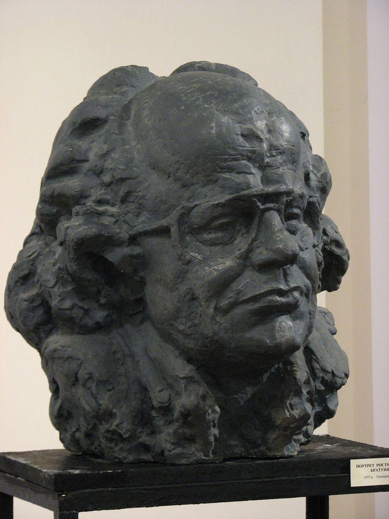 Еммануїл Мисько. І. Драч, 1986. Гіпс тонований, 53х44х42