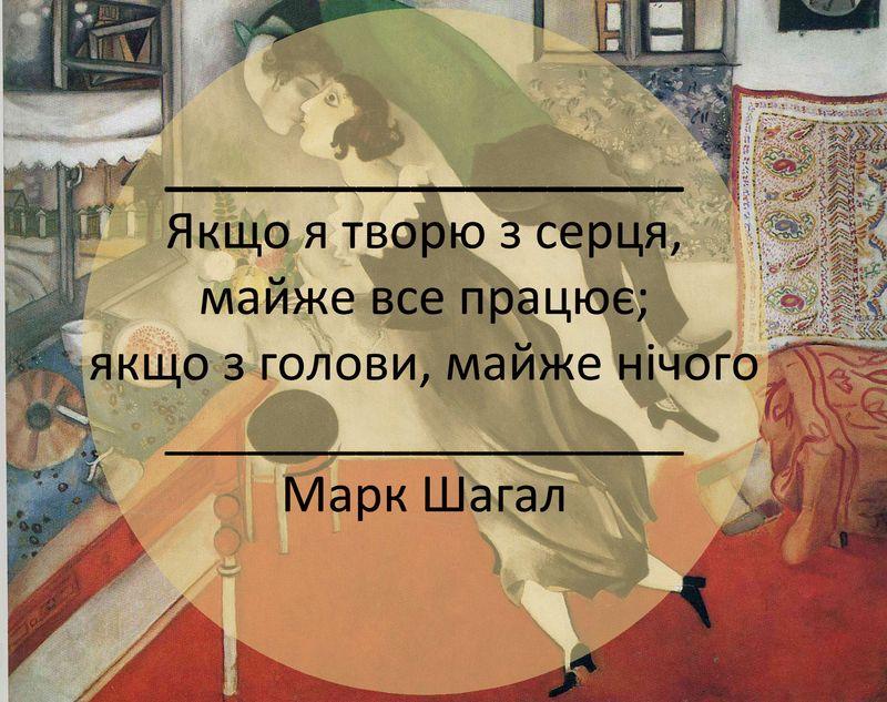 Марк Шагал про організацію творчої роботи