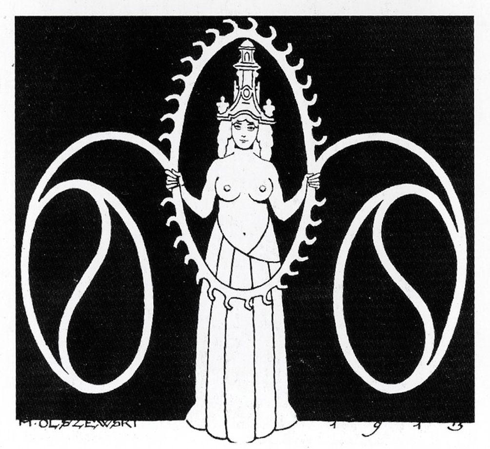 Мар'ян Ольшевський. Плакат виставки товариства «Заспул», 1913; літографія; ЛНГМ