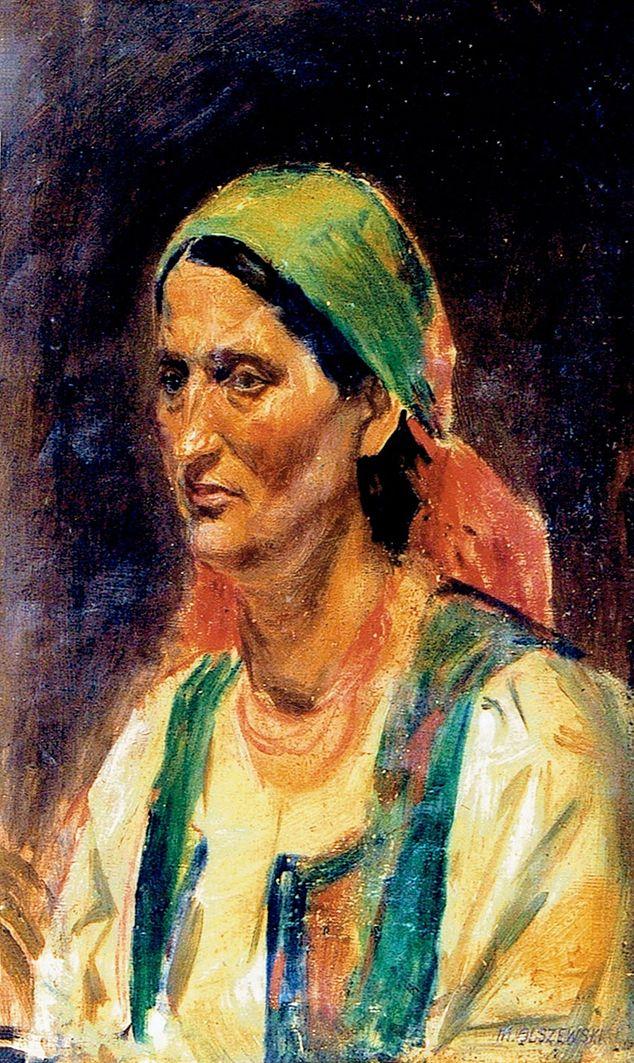 Мар'ян Ольшевський. Портрет горянки; холст, масло