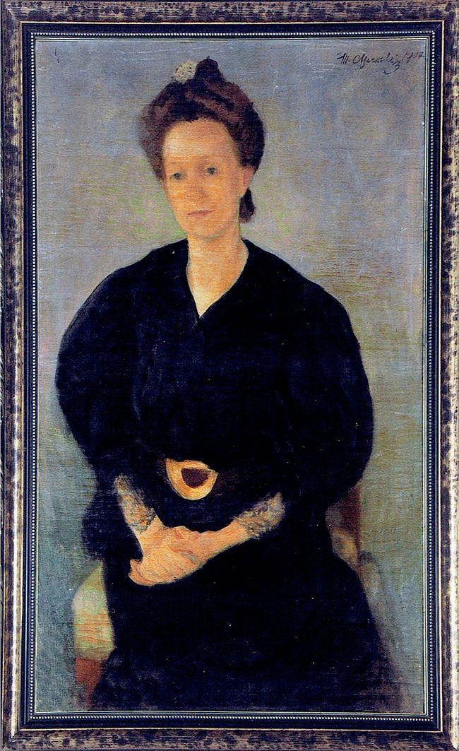 Мар'ян Ольшевський. Сестра Октавія Попович, 1907; холст, масло