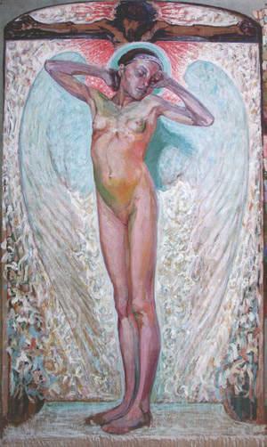 Олекса Новаківський. Пробудження на тлі Розп'яття, 1914