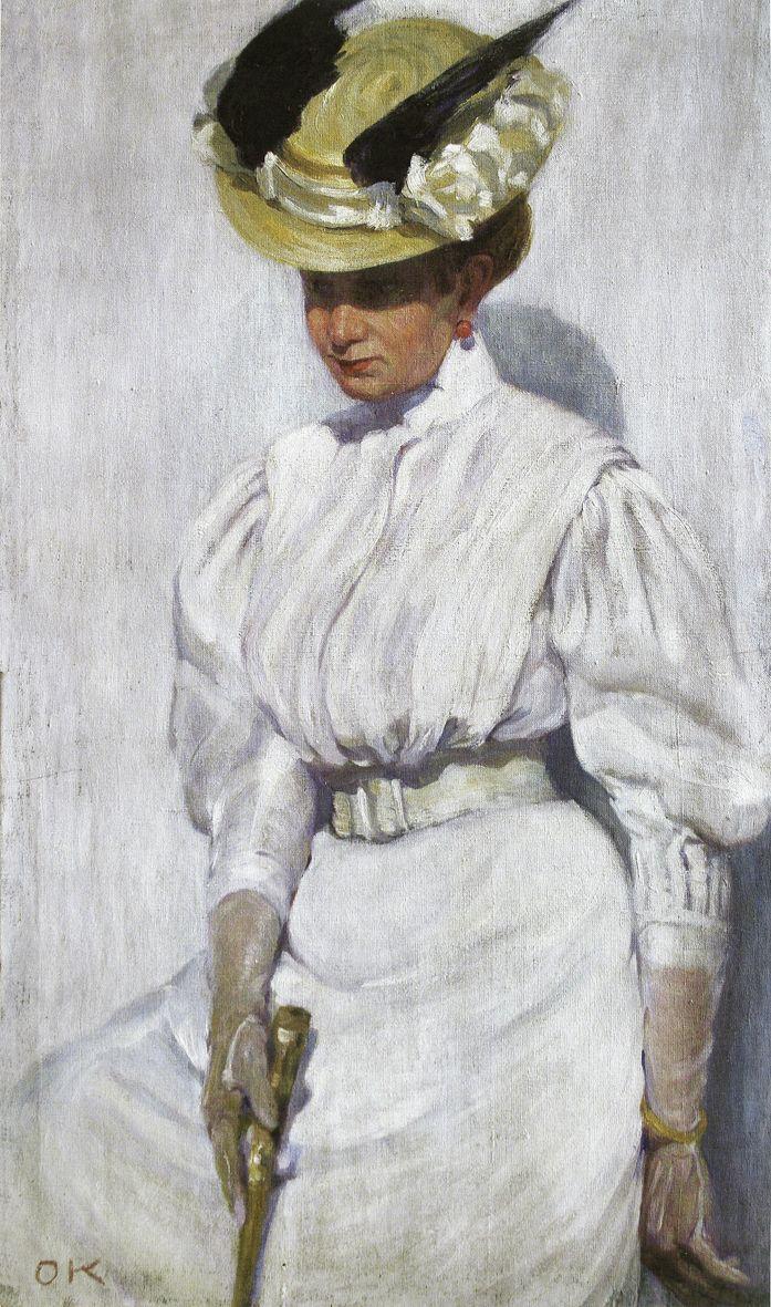 Олена Кульчицька. Портрет сестри в білому, 1912