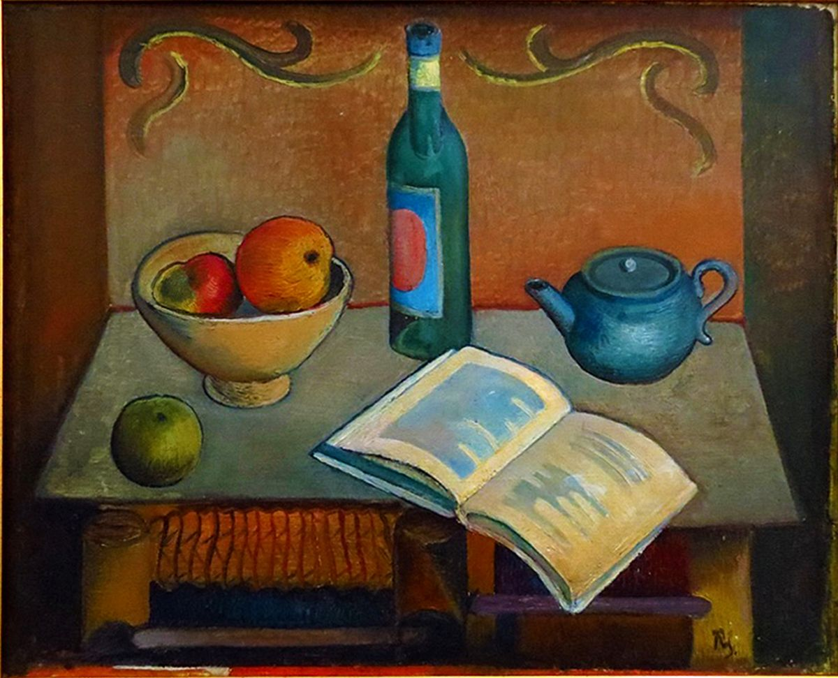 Роман Сельський. Натюрморт с книгою, 1926