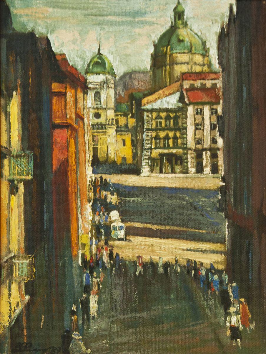 Зеновій Флінта. Вид на площу Ринок, 1987