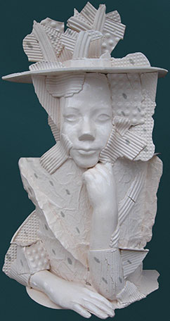 Ігор Ковалевич.  Флора, 2009. Кам'яна маса, емалі. h 50