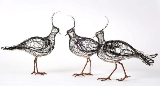 Ідея: Скульптури птахів з дроту