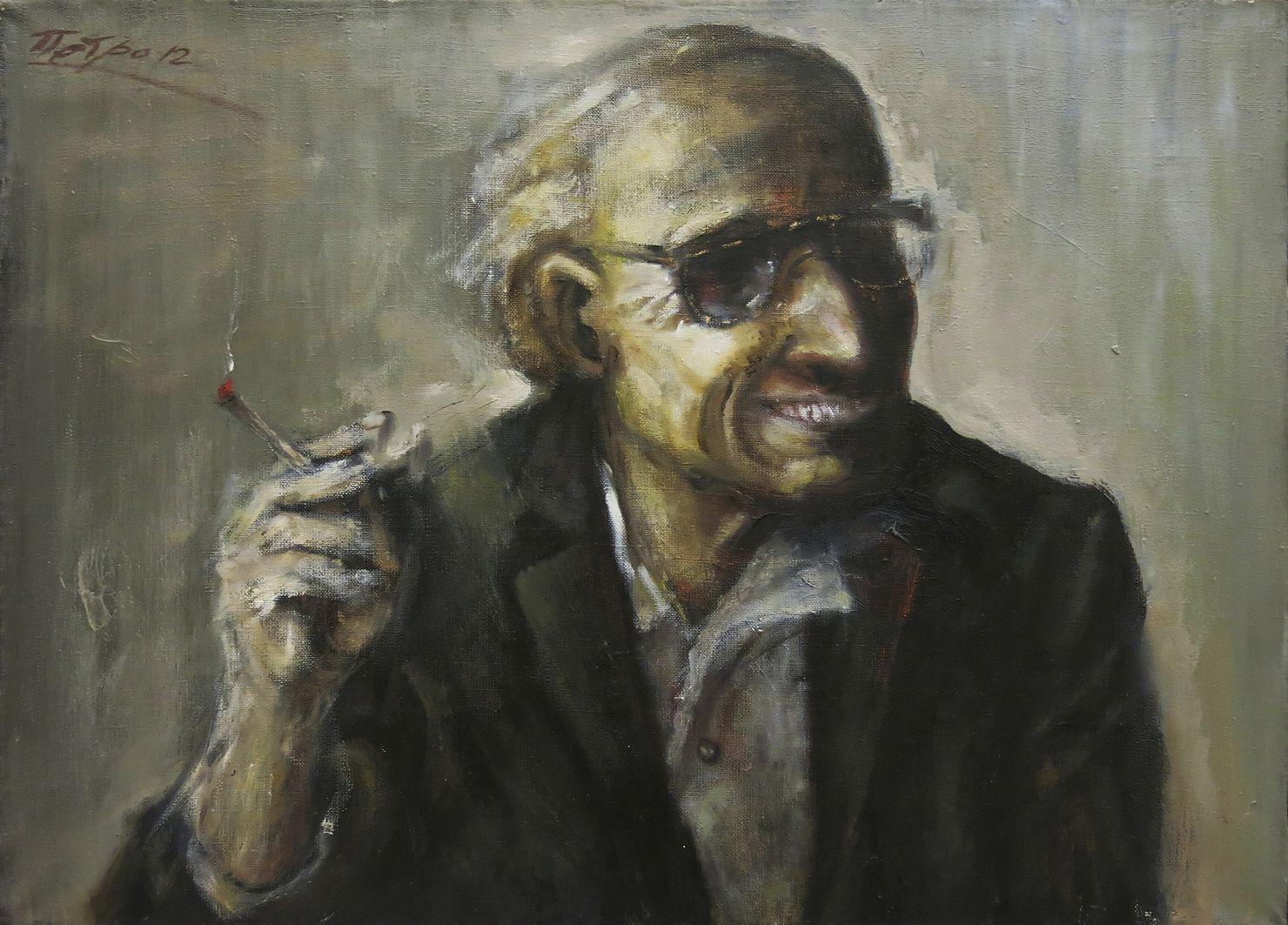 Петро Гуменюк. Євген Дзиндра, 2012; полотно, олія