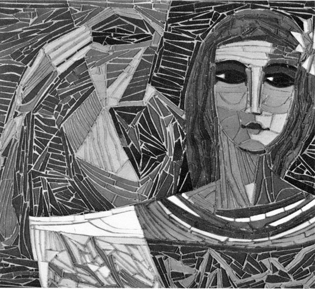 Володимир Баляс. Дівчина з дзбанком, мозаїка