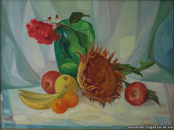 Володимир Баляс. Натюрморт з зеленою вазою, 1976