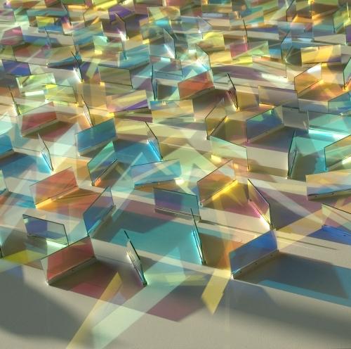 СКЛО: геометричні інсталяції Кріса Вуда