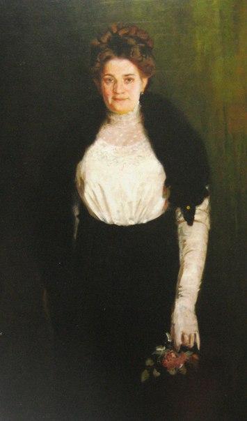 Осип Курилас. Портрет дружини з трояндою