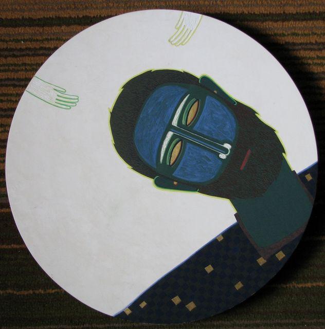 Ярина Мовчан. Портрет чоловіка, 2010. Дошка, левкас, золото, жовткова темпера, d-40см.