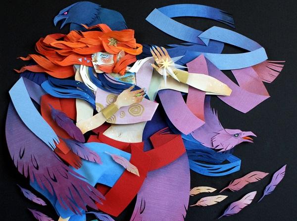 ПАПІР: текстурні ілюстрації сновидінь та міфів від Моргани Уоллес