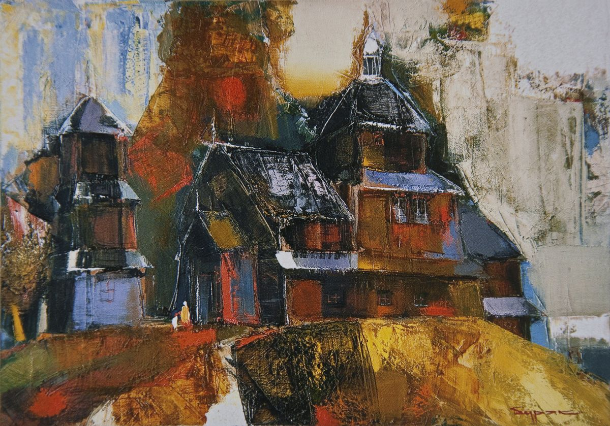Борис Буряк. Вовківська церква у Карпатах, 2008