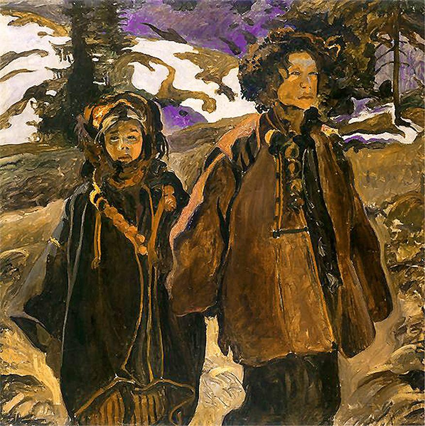 Казимир Сіхульський. Гуцульські діти-сироти, 1906