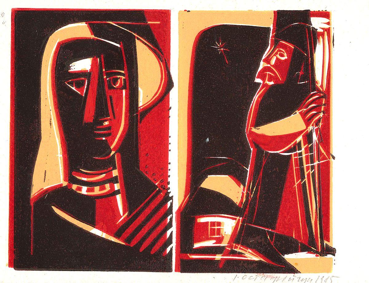 Іван Остафійчук. PF-1986. Монотипія, 1985