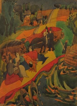 Іван Остафійчук. Старі санджари, р. Ворскла. Папір, акварель; 20х27 см