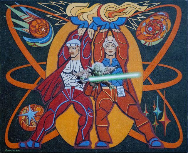 Юлія Долинська. Любіть Україну! Як Йода любіть!, 2014. Полотно, олія, 50х60