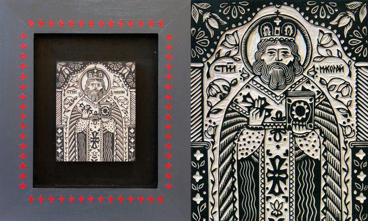Олександр Бриндіков. Святий Миколай (дерев'яне кліше)