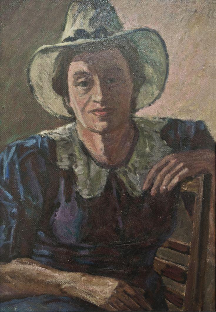 Роман Турин. Аріадна Труш, 1950-і; картон, олія; НМЛ
