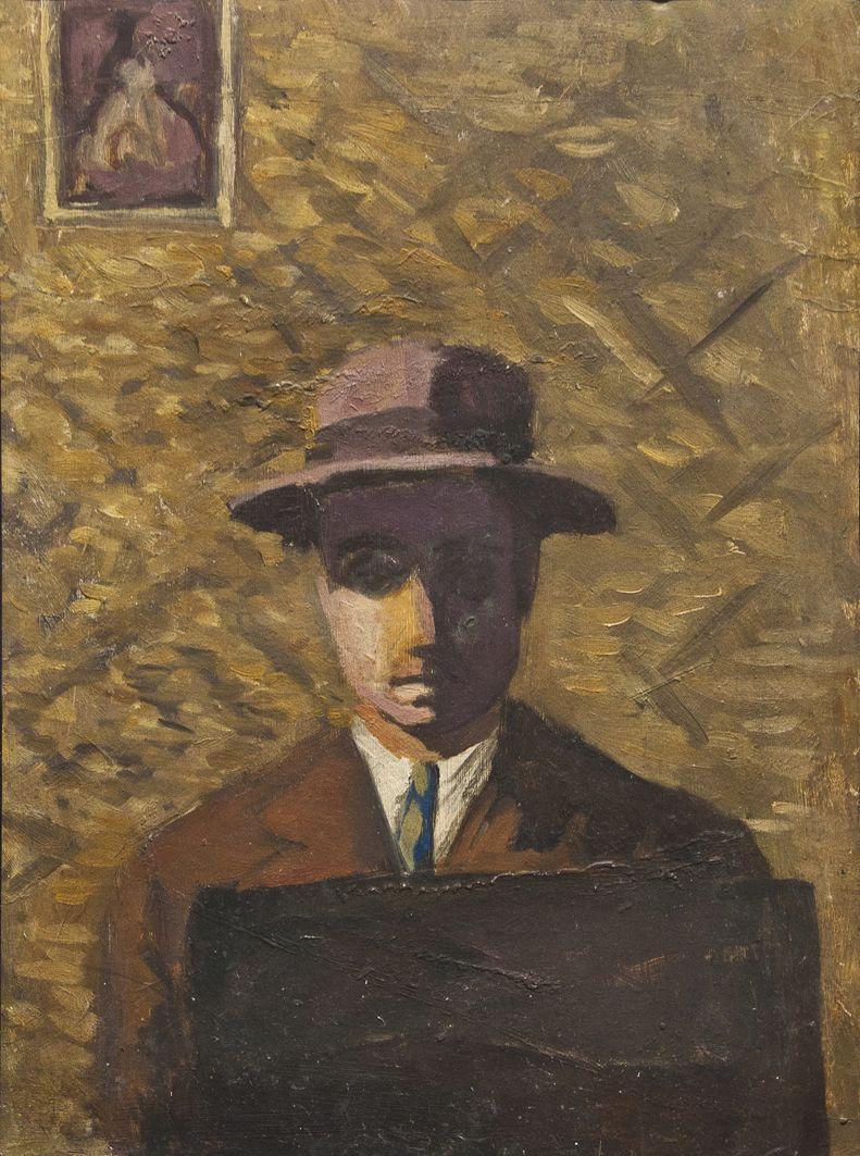 Роман Турин. Чоловік у капелюсі, 1930-і; полотно, олія