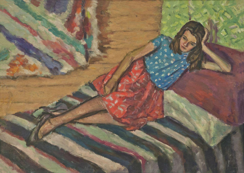 Роман Турин. У Дземброні Галя, 1963; картон, олія