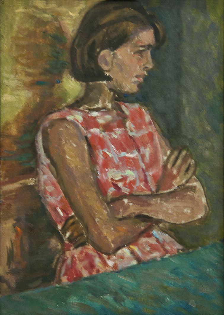 Роман Турин. Наталка, 1964; картон, олія