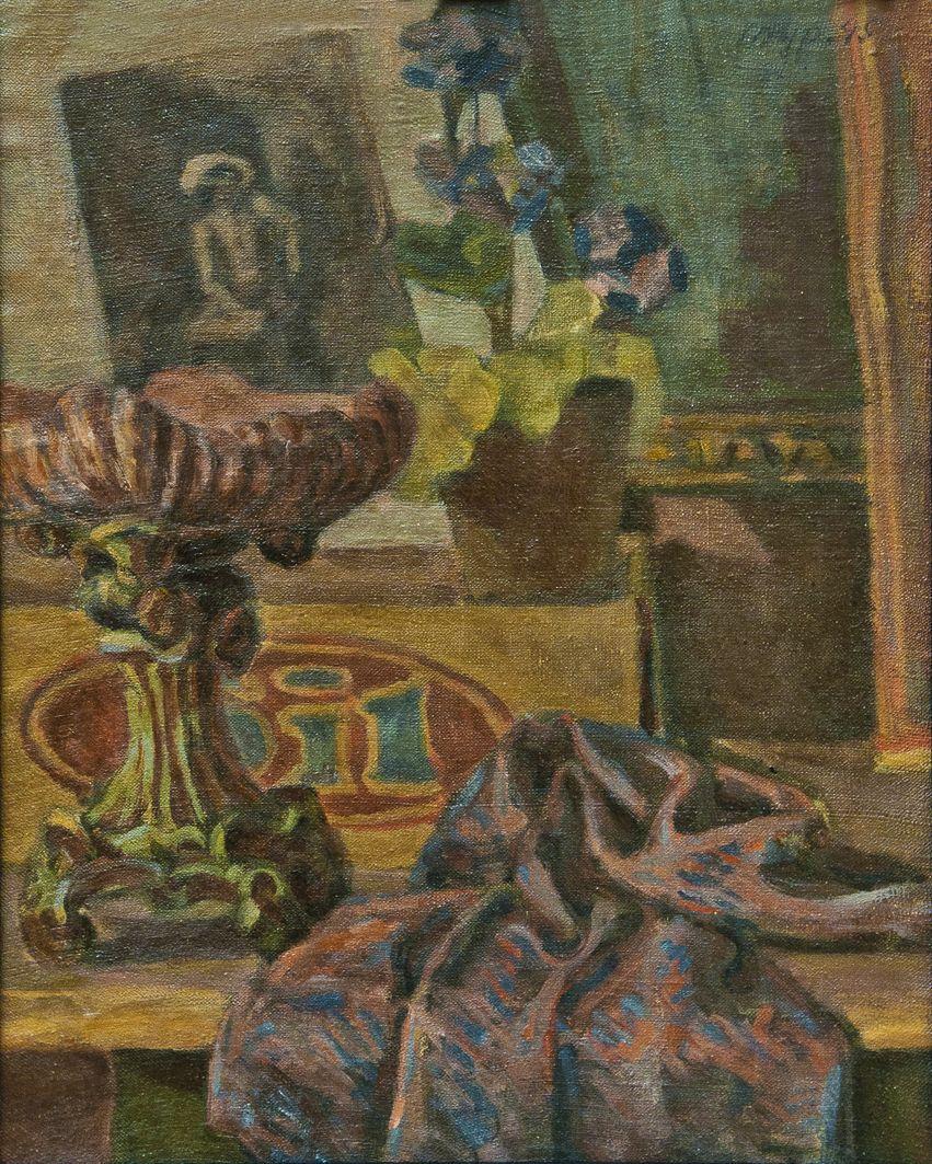 Роман Турин. Натюрморт, 1950-і; картон, олія