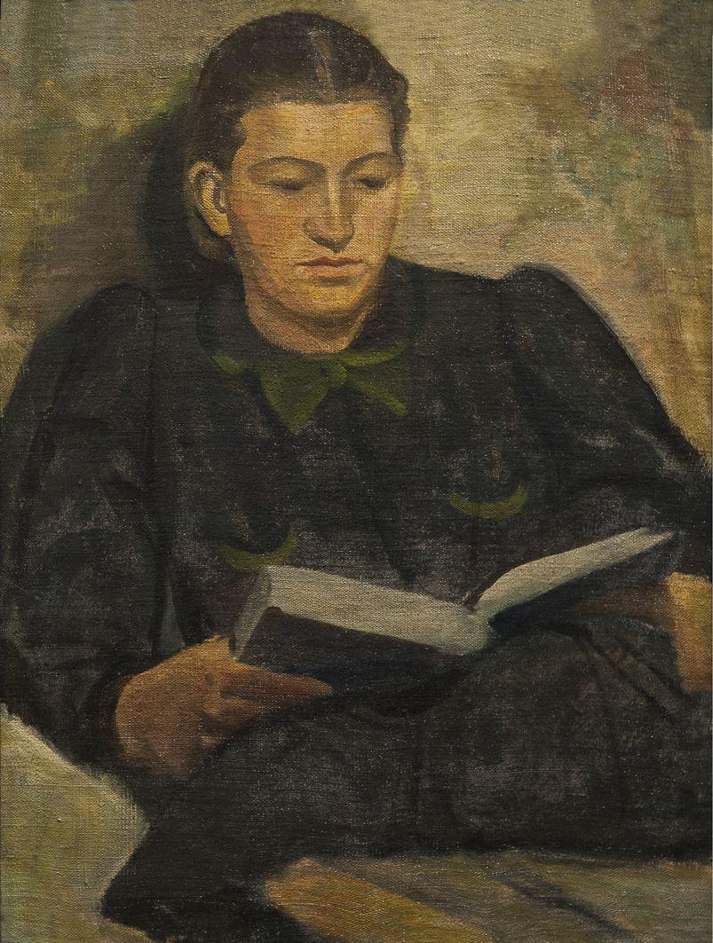 Роман Турин. За читанням, 1930-і; полотно, олія