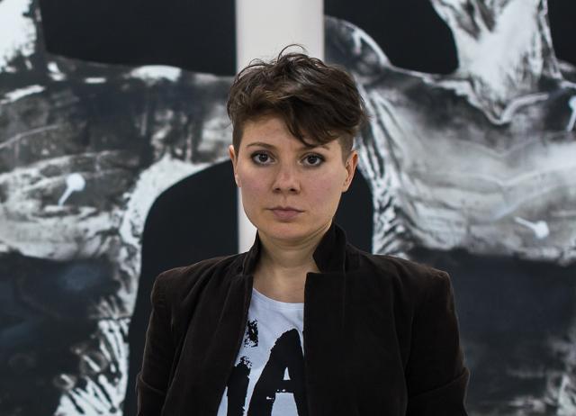 Альбіна Ялоза. Відкриття виставки  «Високий друк» в Галереї УКУ