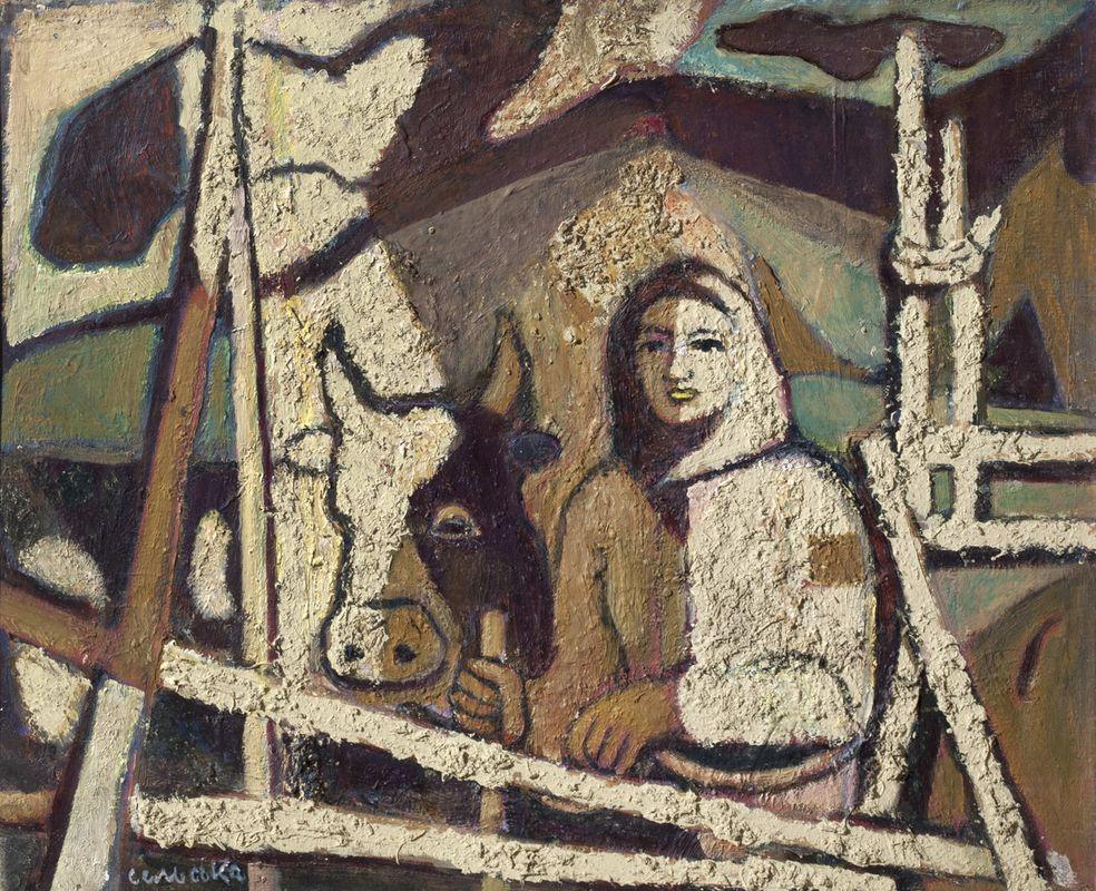 Марія Сельська. Біля плоту, 1972