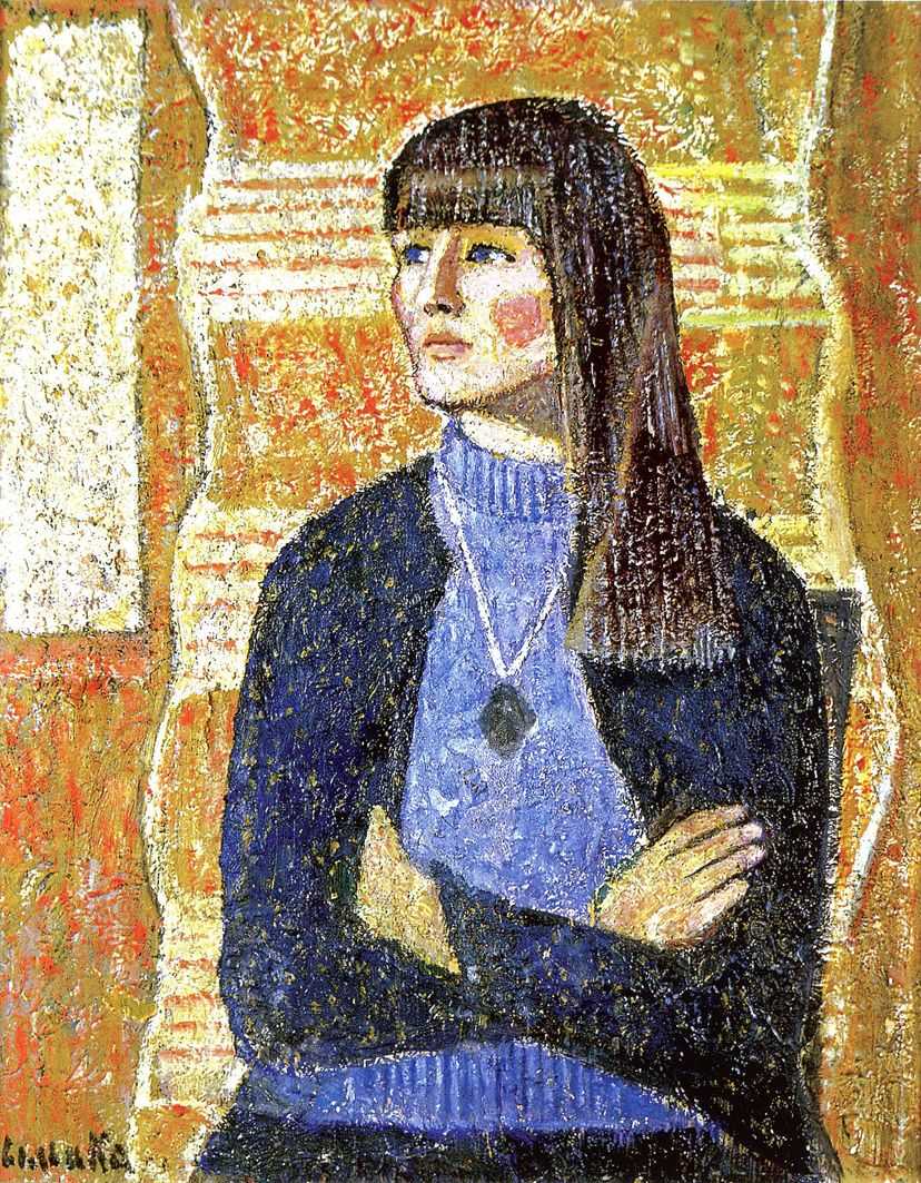 Марія Сельська. Портрет Галі, 1969; ЛНГМ