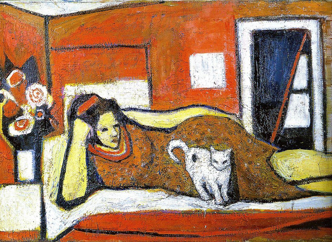 Марія Сельська. Жінка з котом, 1960-ті