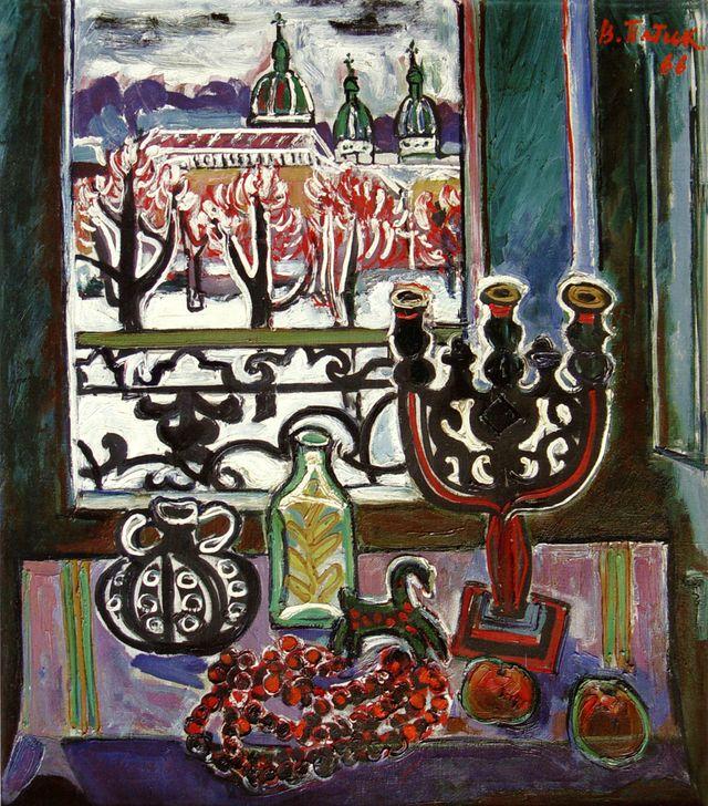 Володимир Патик. Натюрморт на тлі вікна, 1966