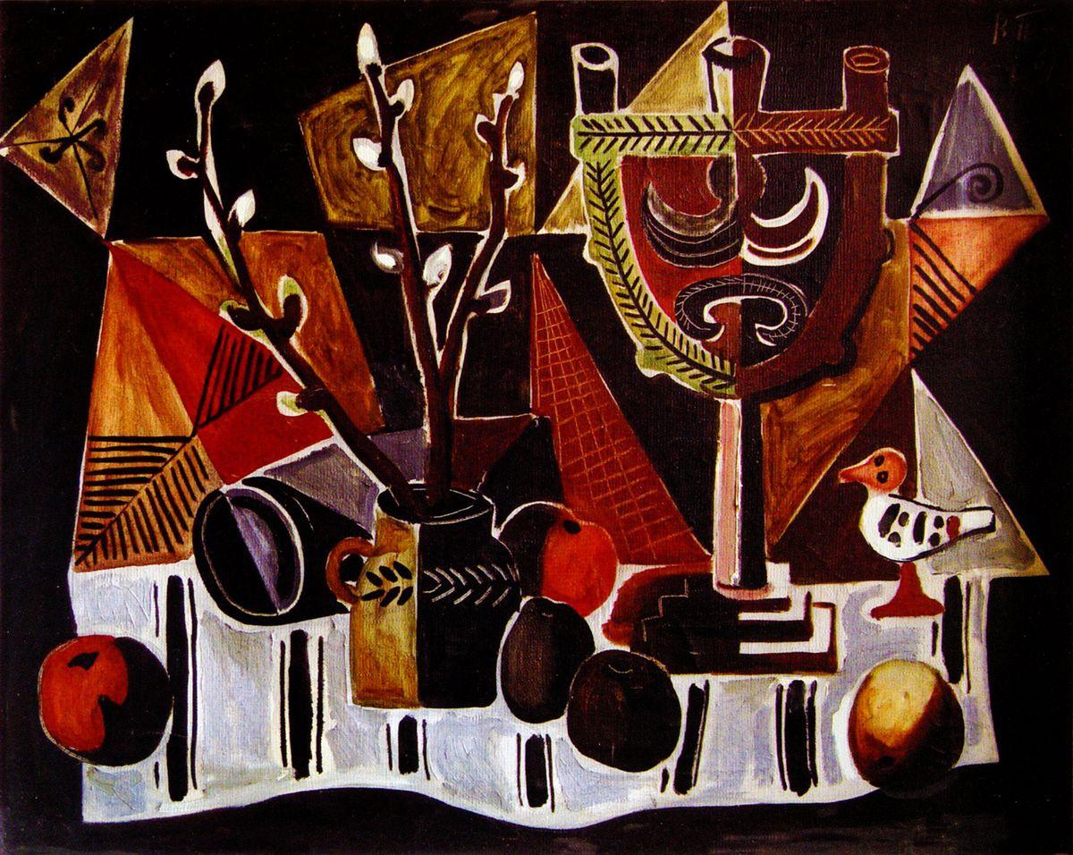 Володимир Патик. Натюрморт з підсвічником, 1969