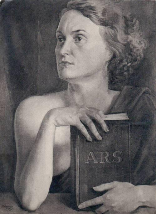 Василь Дядинюк. Муза мистецтва (Портрет дружини художника), 1930