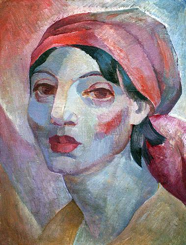 Богдан Сойка. Девушка с электролампового, 1966. Холст, олія, 63х48
