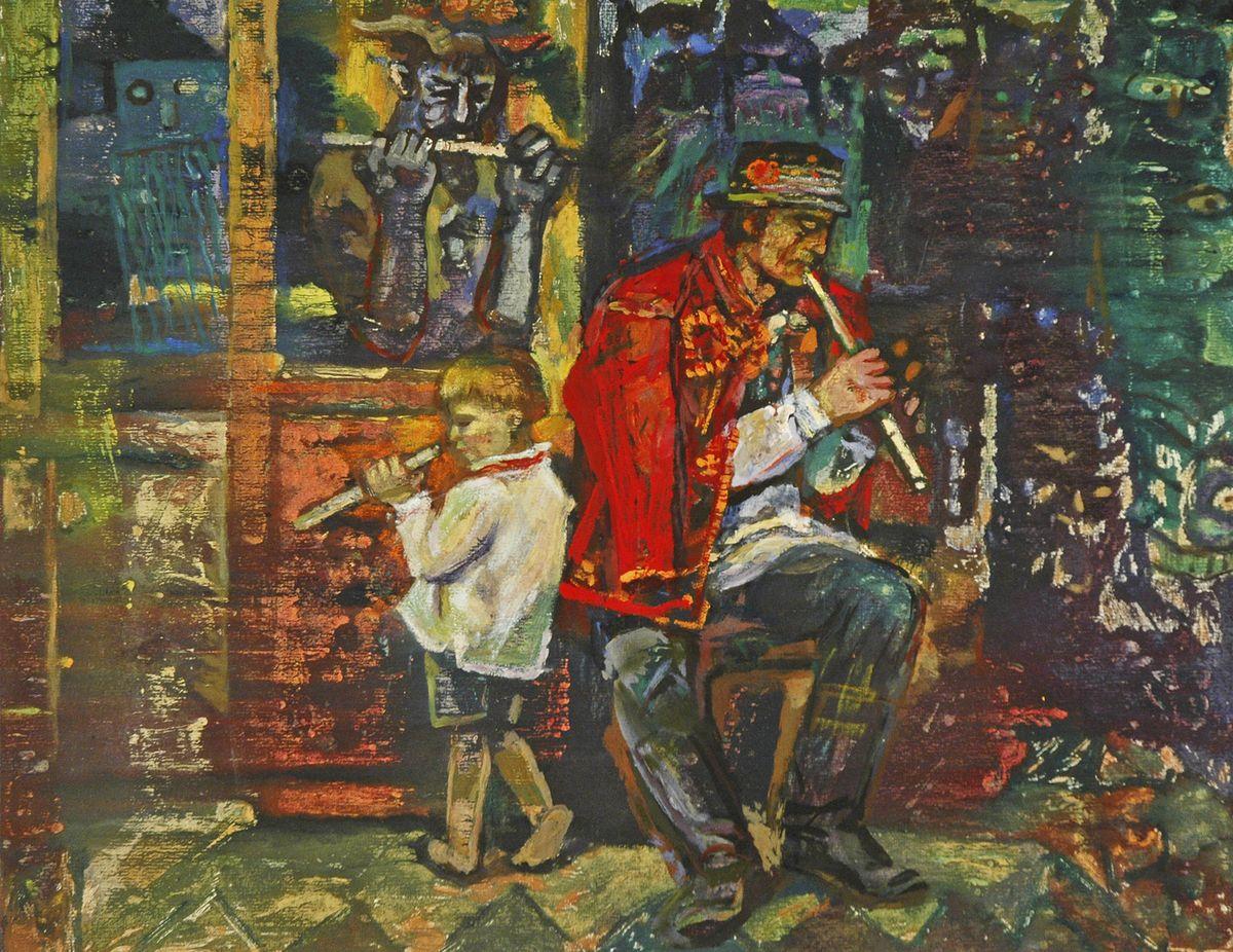 Данило Довбошинський. Пісня Чорногори 1980. Монотипія