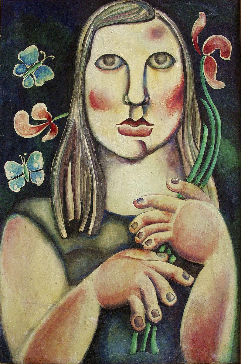 Генріетта Левицька. Дівчина з квіткою, 60-ті
