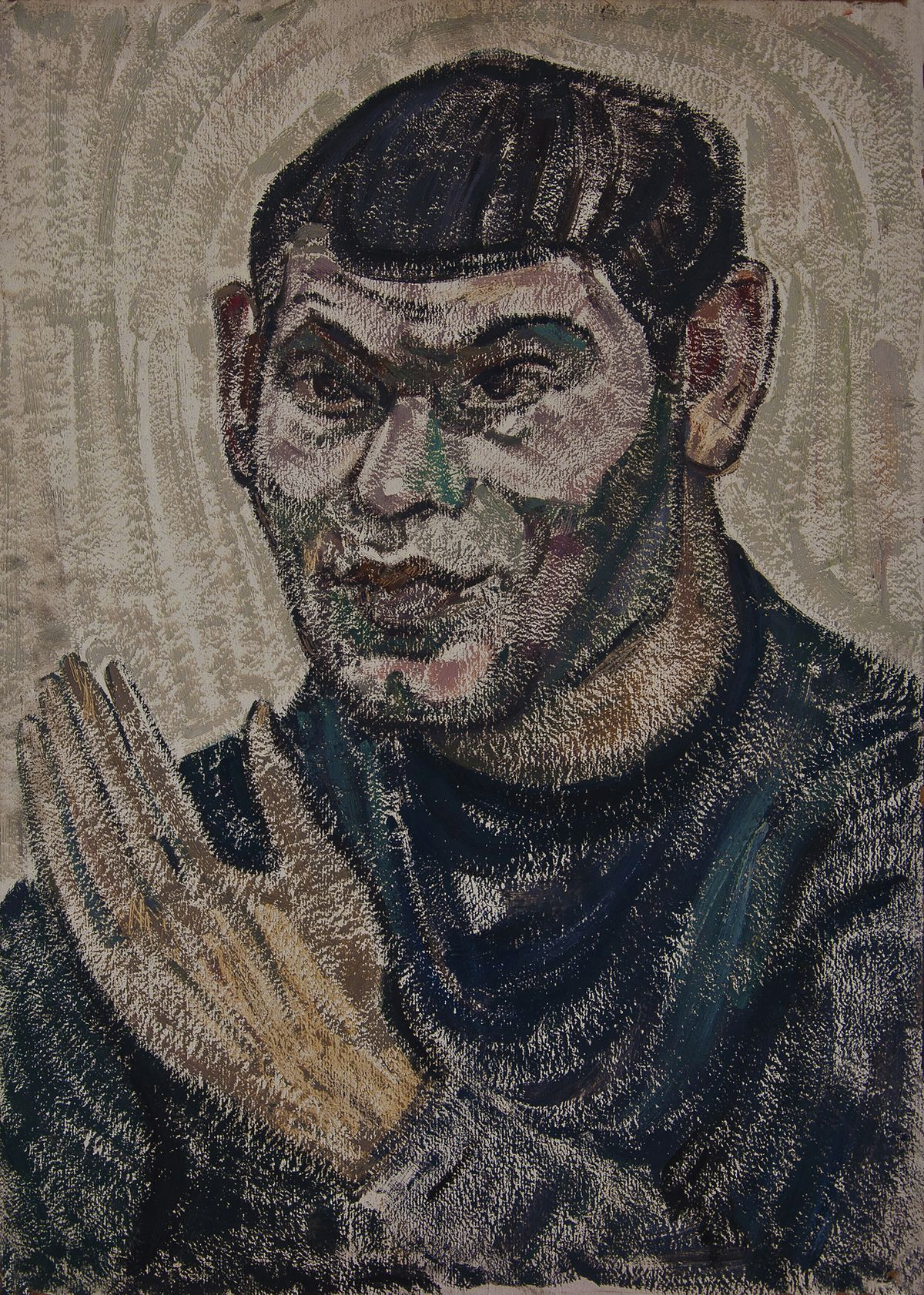 Генріетта Левицька. Портрет з рукою, 60-ті