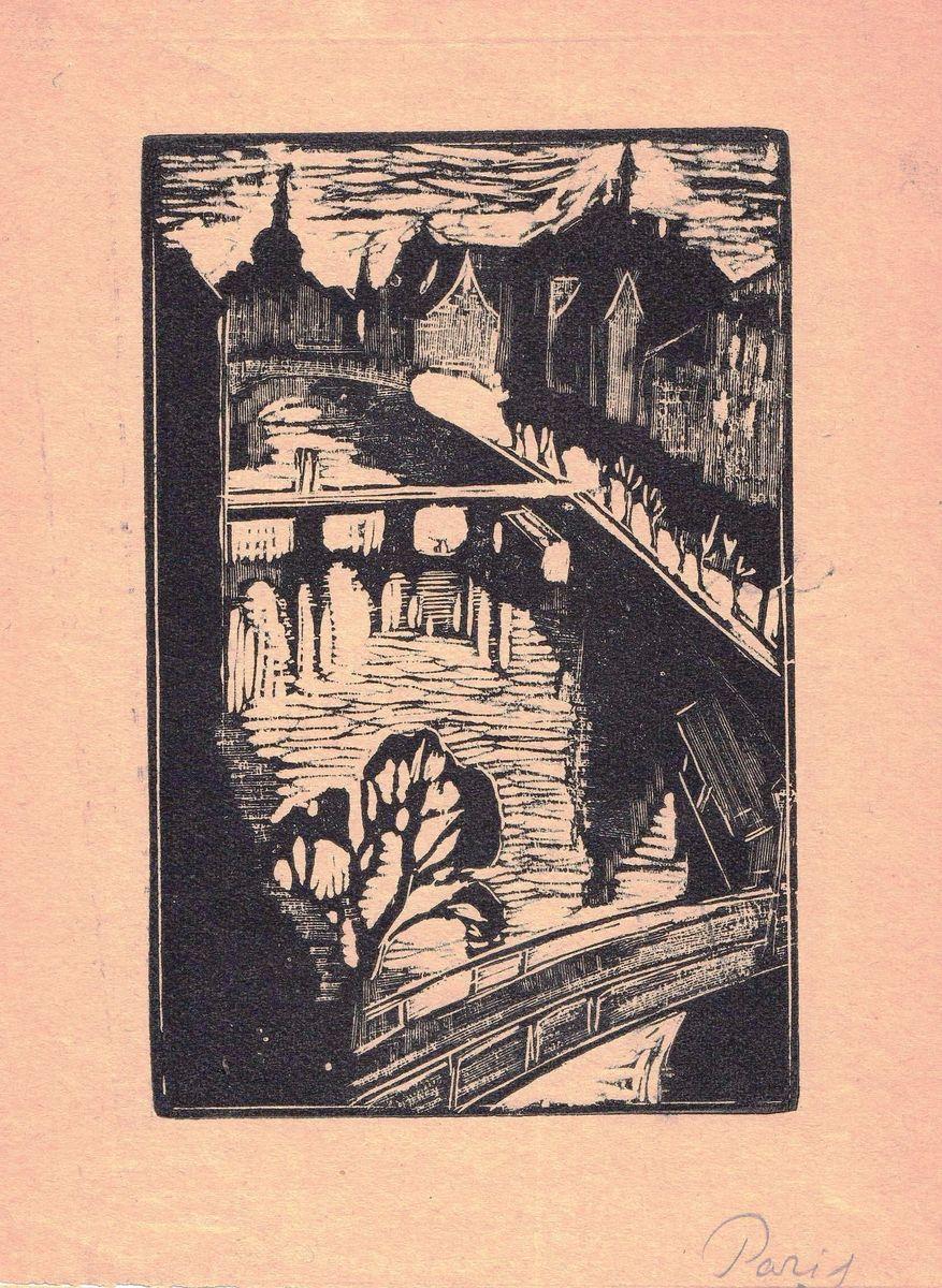 Юзефа Кратохвиля-Відимська. Paris. Лiнорит. 1930-тi (10х15)