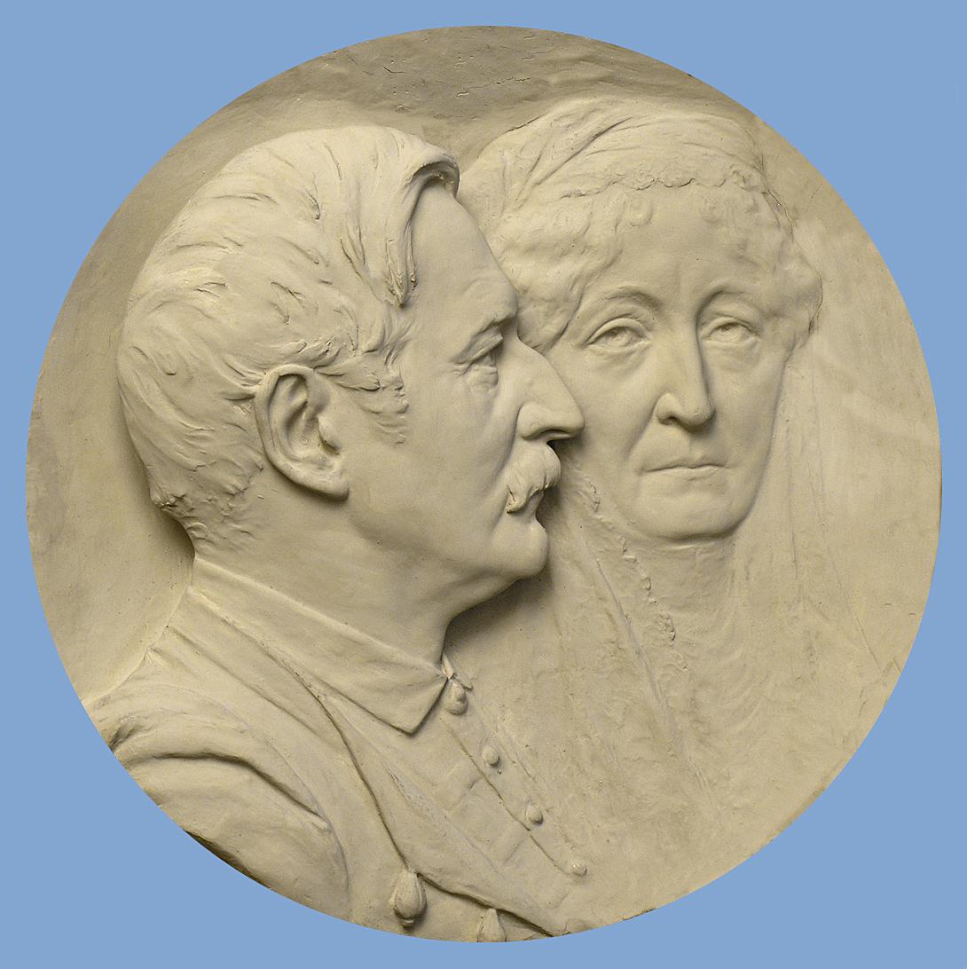 Антон Суліма-Попель. Леон і Ядвіга Сапегі, 1905; гіпс; ЛНГМ