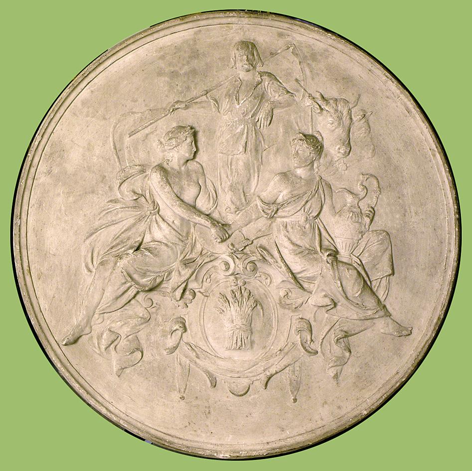 Антон Суліма-Попель. Музика, Промисловість, Рільництво - виставка 1864; гіпс