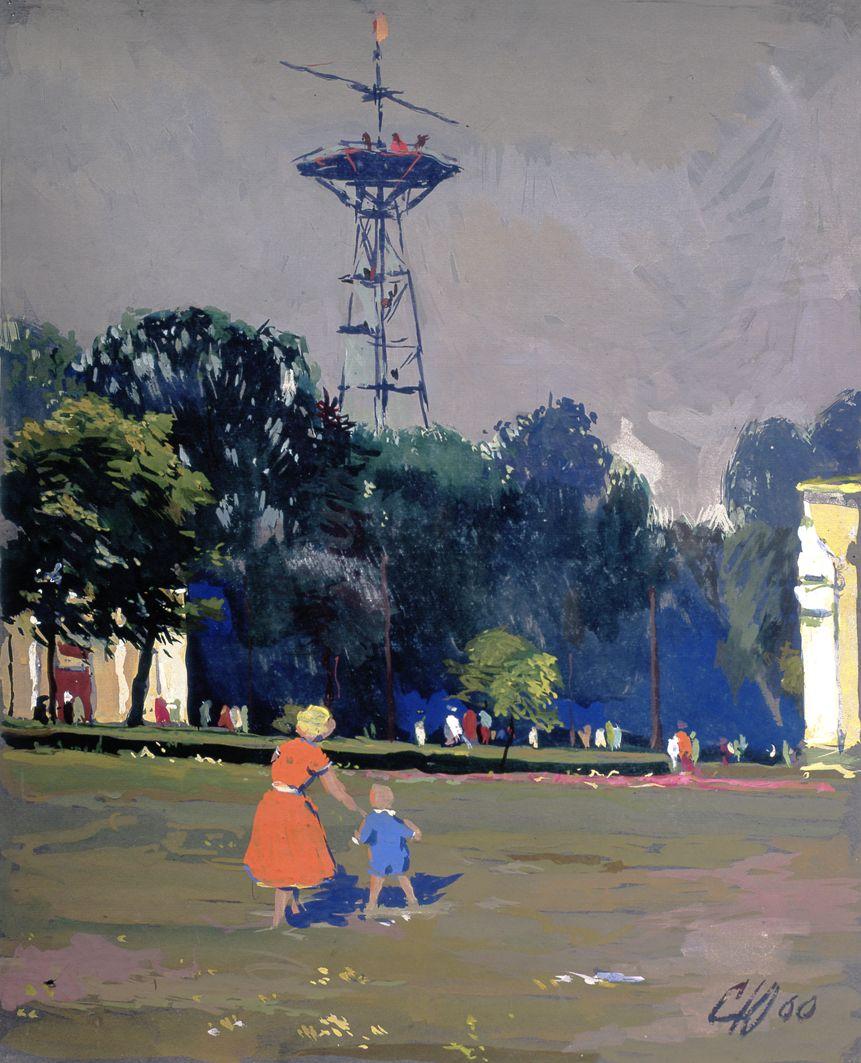 Юрій Скандаков. Парашутна вежа в парку, 1960